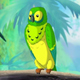 Green Parrot in a Jungle - VideoHive Item for Sale