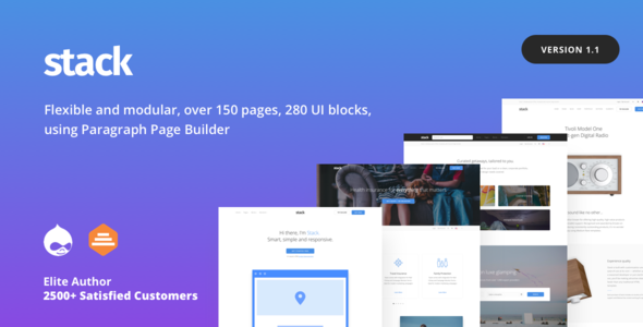 Stack - Multi purpose Drupal 8 Theme with Paragraph Builder - Corporate Drupal