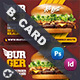 Fast Food Burger Business Card Templates - GraphicRiver Item for Sale