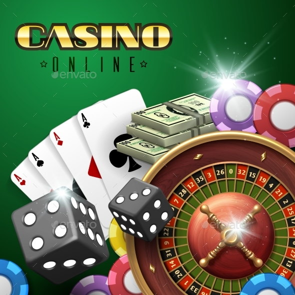 Online Casino Gambling Vector Background - Miscellaneous Vectors