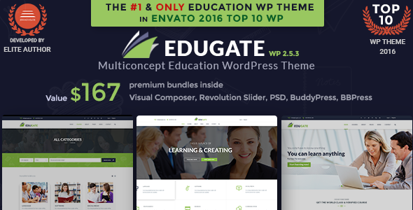 Education WordPress Theme | Edugate Education