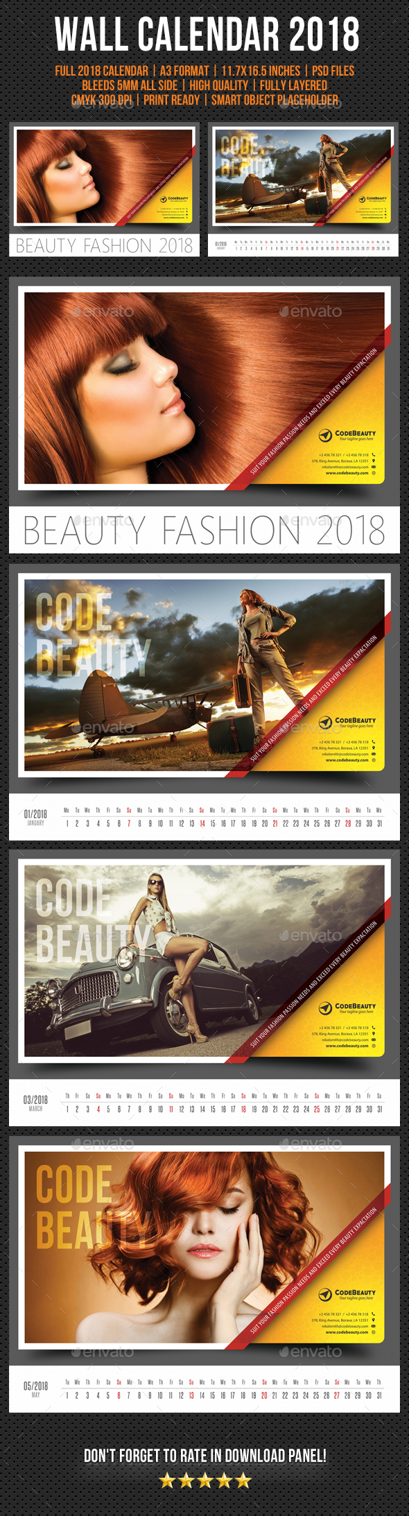 Wall Calendar 2018 V12 - Calendars Stationery