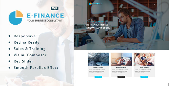 Efinance: Consultancy WordPress Theme