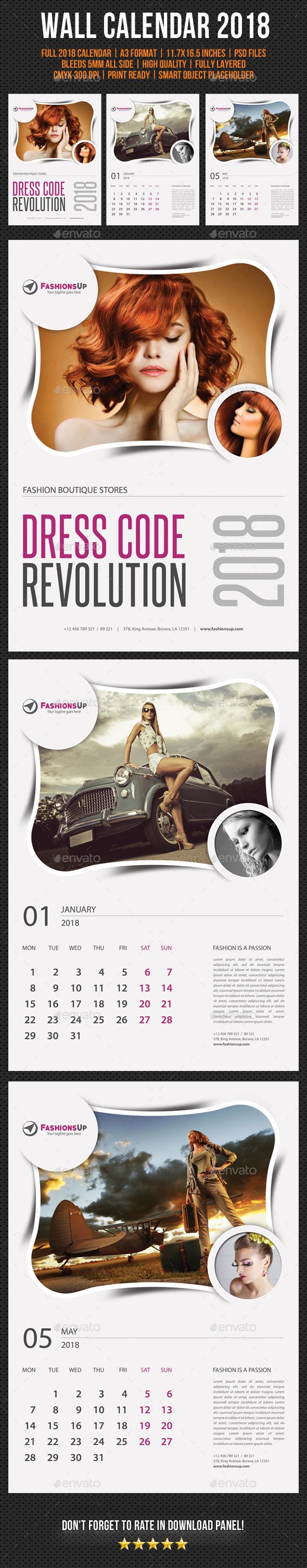 Wall Calendar 2018 V13 - Calendars Stationery