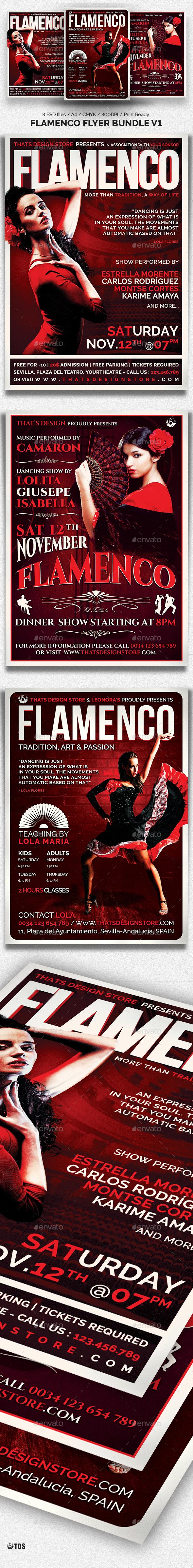 Flamenco Flyer Bundle V1 - Events Flyers