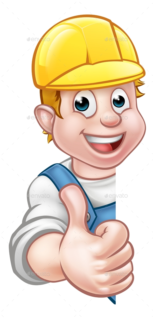 Hard Hat Handyman Carpenter Mechanic or Plumber - Miscellaneous Vectors