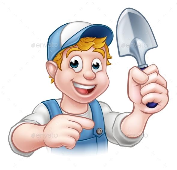Cartoon Gardener - Food Objects