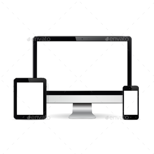Computer Monitor, Digital Tablet and Smart Phone - Computers Technology