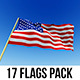 Flags (17 in 1) Pack - VideoHive Item for Sale