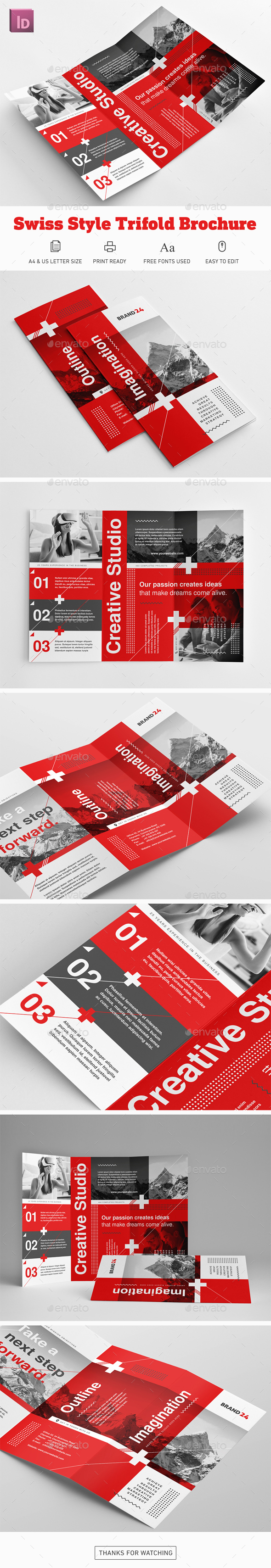 Swiss Style Trifold Brochure - Corporate Brochures