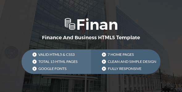 Finan – Finance And Business HTML5 Template
