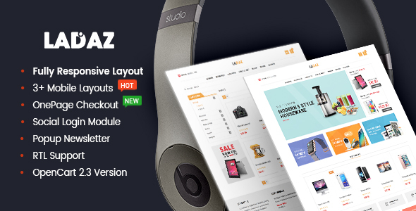 Ladaz – Advanced Multipurpose Responsive OpenCart 2.3 Theme
