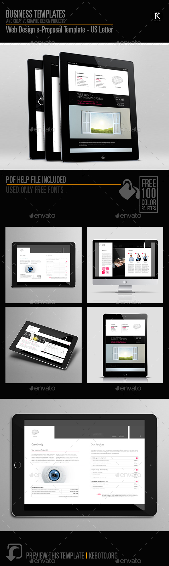 Web Design e-Proposal Template US Letter
