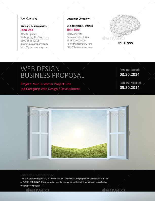 Web Design E-Proposal Template - Us Letter By Keboto | Graphicriver