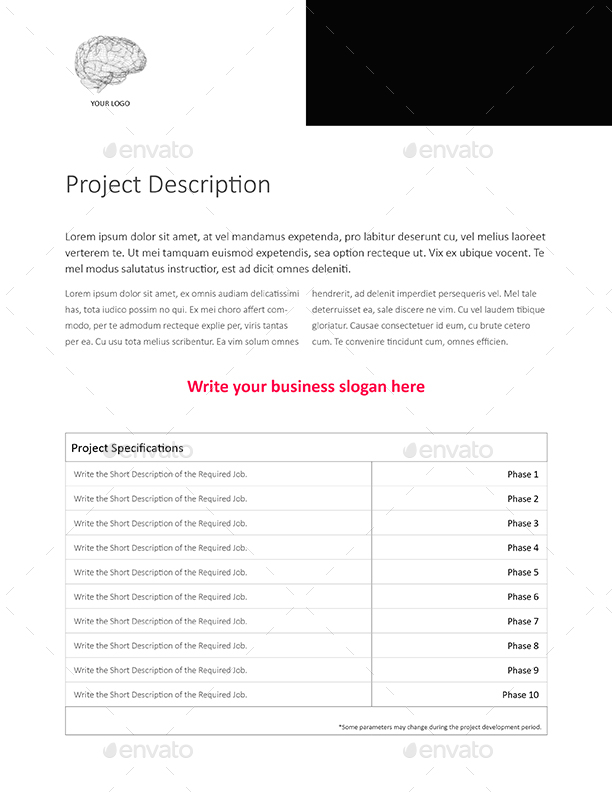 web design e-proposal template