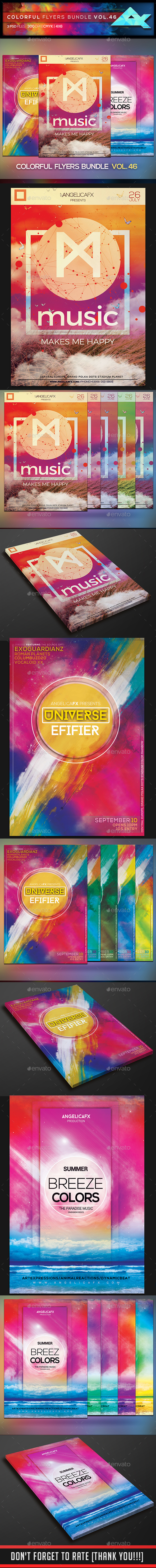 Colorful Flyers Bundle Vol. 46 - Flyers Print Templates