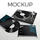 Realistic Vinyl Record & Player Mockup