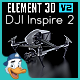 DJI Inspire 2 for Element 3D - 3DOcean Item for Sale
