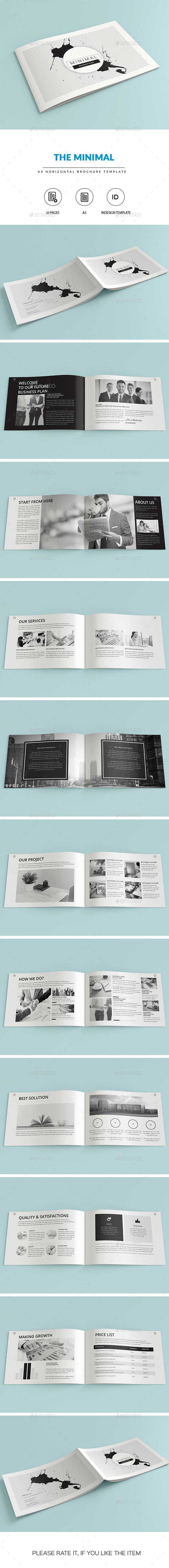 MINIMAL | A5 Business Brochure-Indesign Template - Catalogs Brochures