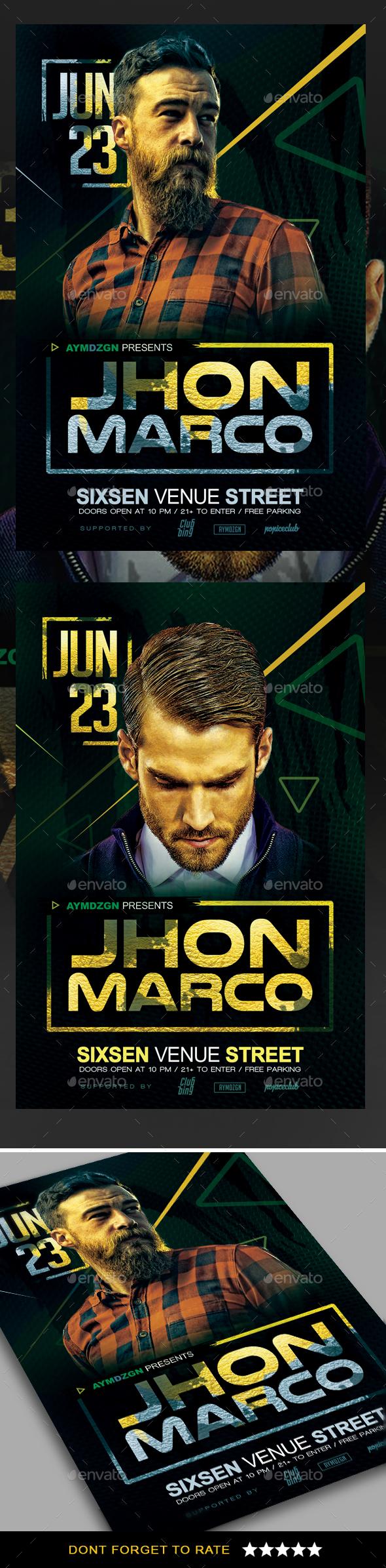 DJ Concert Flyer - Clubs & Parties Events