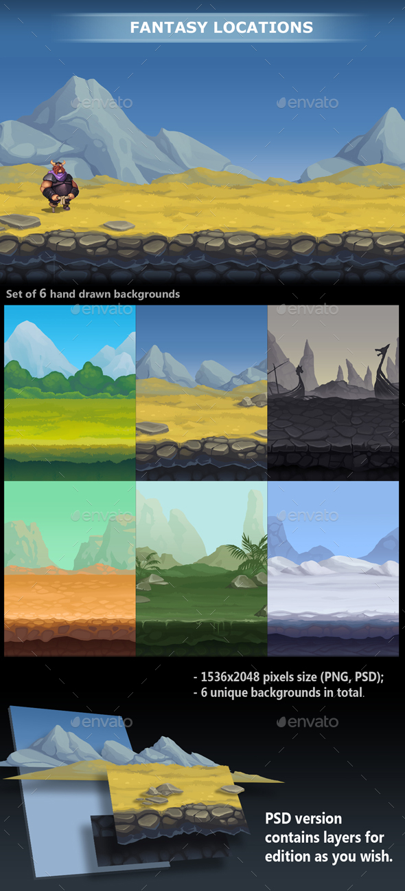 Fantasy Locations - Backgrounds Game Assets