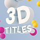 Sphere Bound 3D Titles