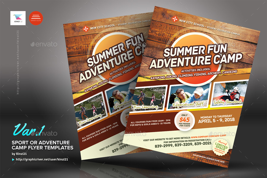 sport or adventure camp flyers by kinzi21