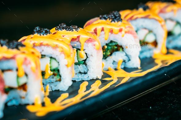 Hamachi Sushi Stock Photo By Siraphol Photodune