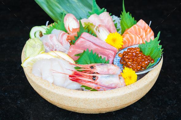 Mixed sashimi - Stock Photo - Images