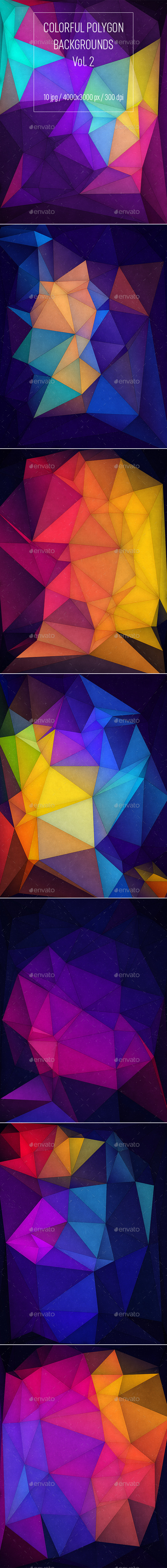 Colorful Polygon Backgrounds Vol.2 - Abstract Backgrounds