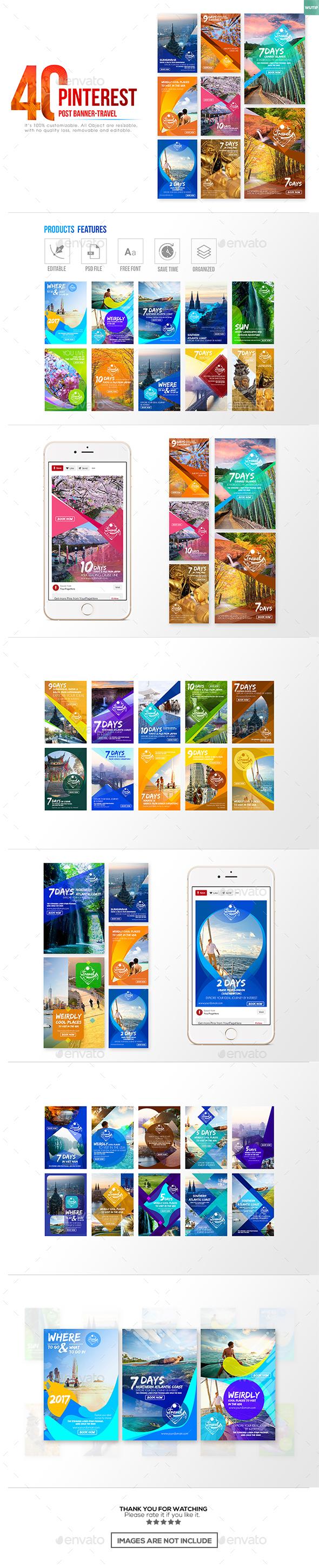 40 Pinterest Banner-Travel - Miscellaneous Social Media