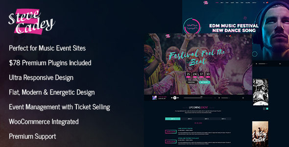 Steve Cadey - WordPress Music Theme For Musicians, DJs, Bands and Solo Artists