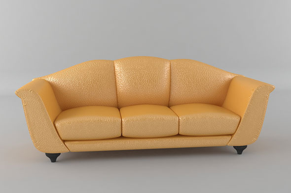 Italian Sofa Model - 3DOcean Item for Sale
