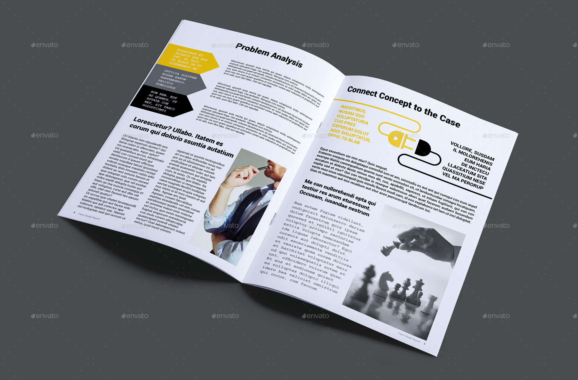 Case study report template by magic reflection graphicriver