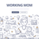 Working Mom Doodle Concept - GraphicRiver Item for Sale