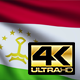 Flag 4K Tajikistan On Realistic Highly Detailed Fabric - VideoHive Item for Sale
