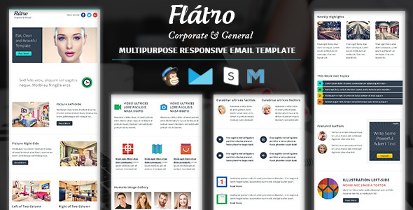 Flatro - Responsive Email Newsletter Templates - Newsletters Email Templates