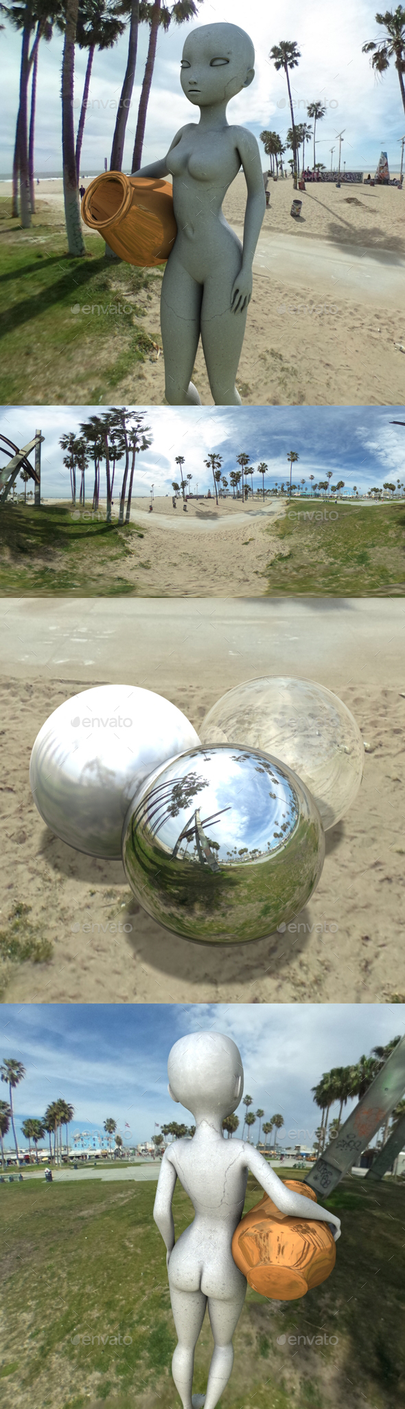 Beachside Bright Hazy Day HDRI - 3DOcean Item for Sale