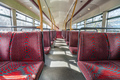 Empty seats in double decker bus