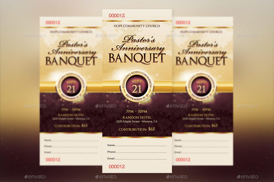 clergy appreciation gala ticket template by godserv2