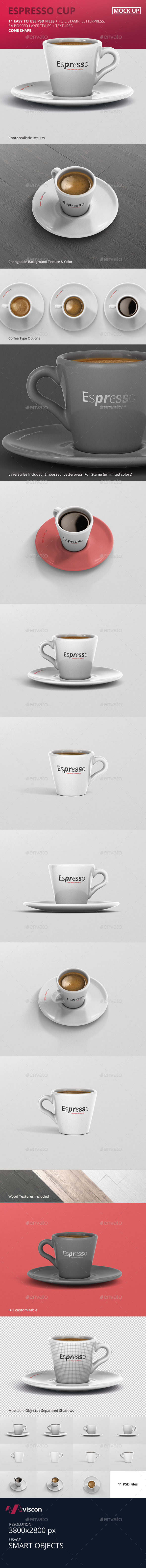 Espresso Cup Mockup - Cone Shape - Food and Drink Packaging