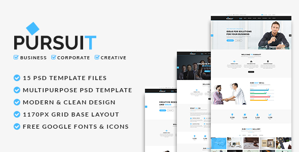 Pursuit - Business, Corporate, Creative PSD Template - Corporate PSD Templates