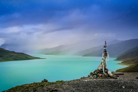 Yamdrok Tso Lake - Stock Photo - Images
