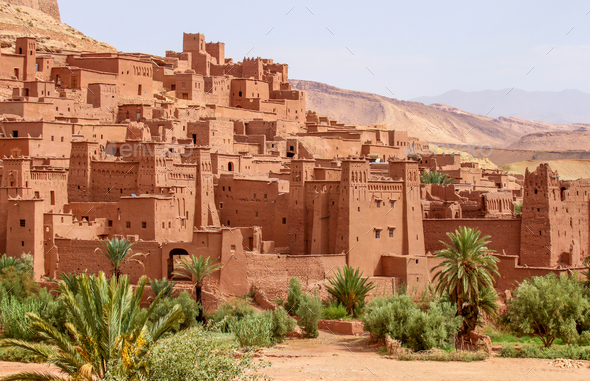 Ait Benhaddou, moroccan ancient fortress - Stock Photo - Images