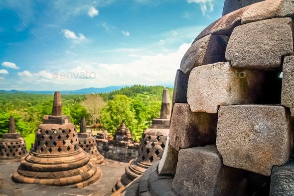 Borobudur Temple in Java - Stock Photo - Images