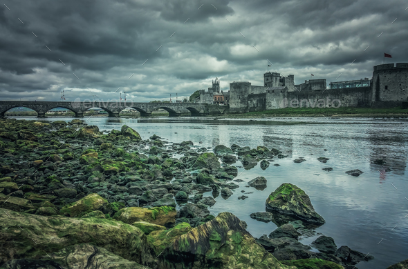 King Johns Castle in Limerick - Stock Photo - Images