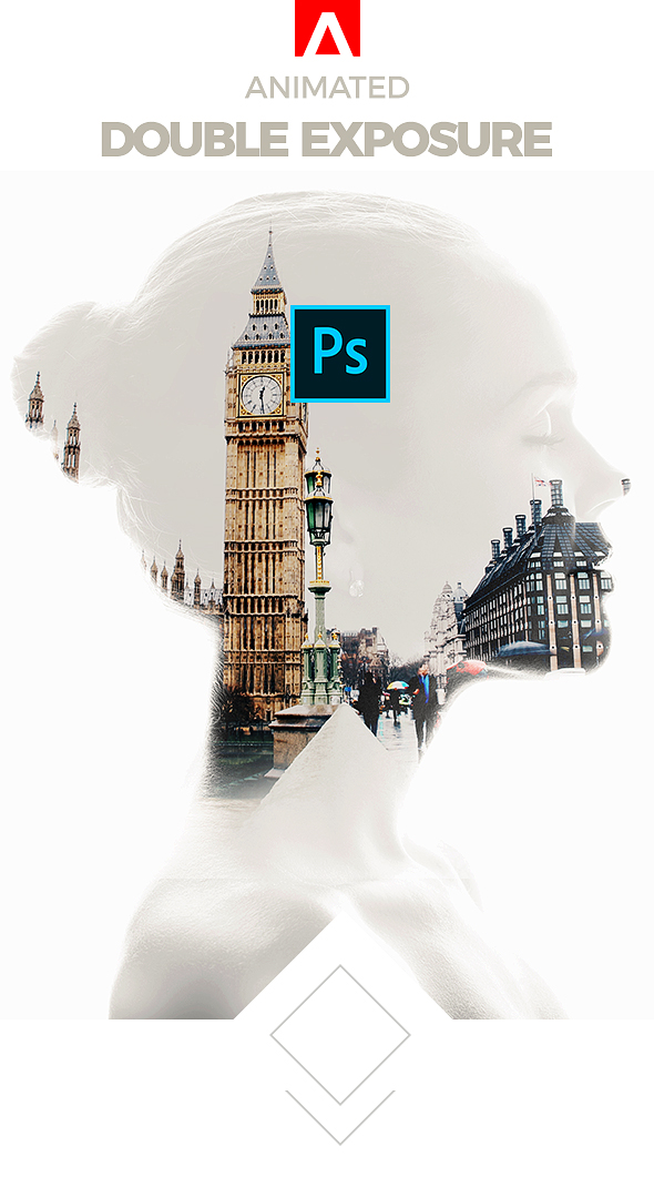 Animated Double Exposure Action - Photo Effects Actions