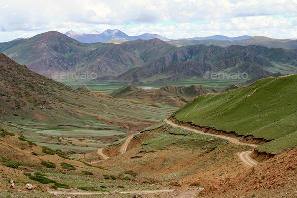 Landscape of Tibetan plateau - Stock Photo - Images