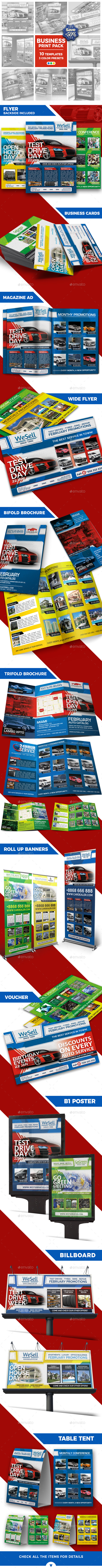 Sales and Services - Business Advertising Bundle - Print Templates