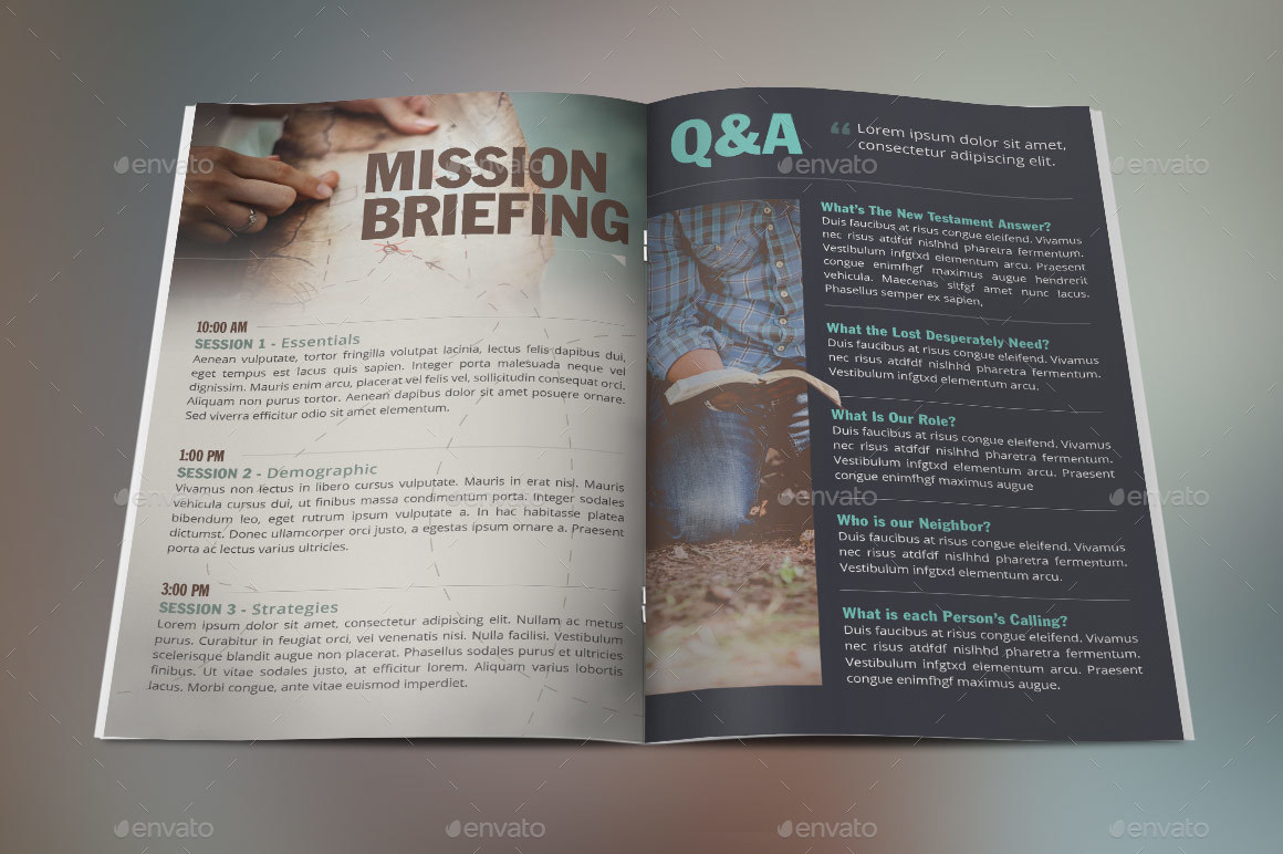 Missions Conference Brochure Template By Godserv GraphicRiver - Conference brochure template